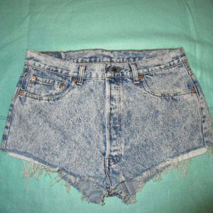 Vintage LEVI'S 501 Acid Wash Cut Off Jean Shorts